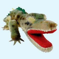 "Steiff Crocodile Gaty all IDs 14"" long 1959 to 1964 vintage"