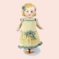 Limbach all bisque dollhouse doll restored 5 inches 1920s