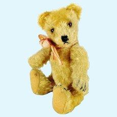 "Steiff Original Teddy Bear yellow 7"" vintage made 1954 to 1964"