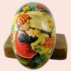 """Easter Egg Candy Container smallest 2 and a half"""" 1930s German vintage"""