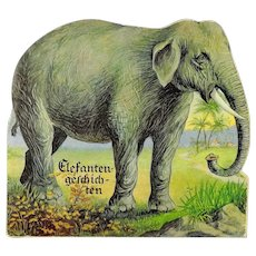 Elephant Story Book from 1959 in German with illustrations