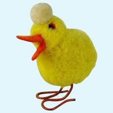 Steiff woolen duck with metal legs vintage made 1949 to 1964 pompom bird