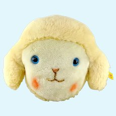Steiff Sheep Pillow with ID 1990s vintage