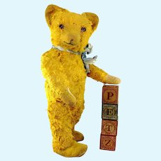 """Germany Petz Teddy Bear Vintage made before 1947 free standing 16"""""""