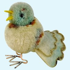 Steiff woolen pigeon with metal legs vintage made 1953 to 1958 pompom bird