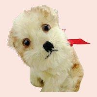 "Steiff puppy dog Molly, 1950s vintage, 7"" sitting, no ID"