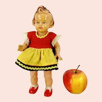 German celluloid doll by Milon Gehler 9 inches 1950s vintage