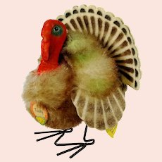 """Steiff Turkey Tucky all IDs mint smallest 4"""" produced 1961 only 2"""