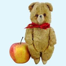 "Silk Plush Teddy Bear 7"" vintage 1940s stick jointed"