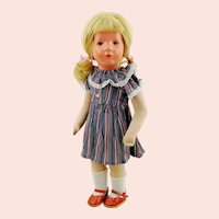 "Kathe Kruse doll girl, 1947 to 1953, US Zone, 14"" Little German Child"
