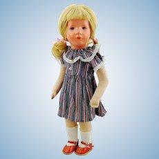 "Kathe Kruse doll girl type IX, vintage made 1947 to 1953, US Zone Germany 14"", Little German Child"