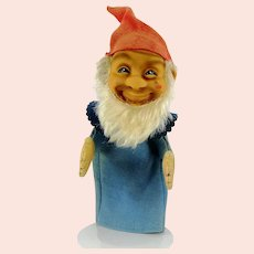 Steiff Gnome Hand Puppet named Gucki vintage made 1953 to 1967