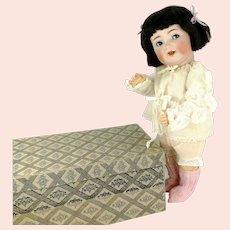 "K*R 126 S & H Character Baby in original box 1914 flirting eyes 17"""