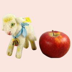 "Steiff lamb all IDs 1968 to 74 standing 4"" smallest white wool plush Lamby"