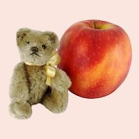 Caramel Grey Steiff Teddy Bear smallest 4 inches 1950s vintage made fully jointed
