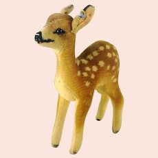 """Steiff Fawn with ID 1949 to 1964 made 5"""" velvet deer"""