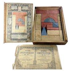Anker stone building block set from 1907 No 2A complete regular caliber original wooden box