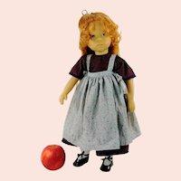 "Sylvia Natterer artist doll 1989 vintage made by Gotz all original with labels 18"" vinyl redhead"