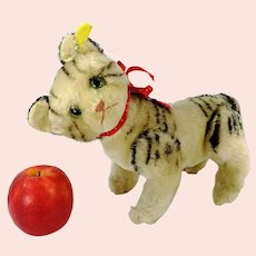 """Steiff Cat Kitty with IDs largest 9"""" fully jointed Tabby 1949 to 1964 produced"""
