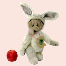 "Boyds Bear as Bunny 1990 to 1994 vintage collectible 12"" teddy"