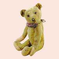 "Bing teddy bear made in 1920s Germany, 20"", well-loved, restored"