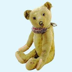 "Bing teddy bear made in 1920s Germany, 20"", well-loved, restored"