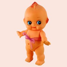 """Kewpie doll vinyl 1970s collectible 8"""" with starfish hands"""