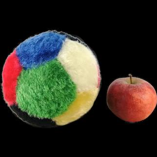 Steiff Gymnastics Ball 6 inches diameter mohair plush vintage 1976 to 1982