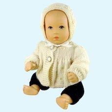 """Kathe Kruse bathing baby 7"""" vintage 1990s original clothing"""