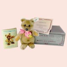 Steiff Jackie Teddy Bear 1953 mint in box 7 inches 1989 vintage replica