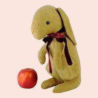 Large Begging Easter Bunny Rabbit antique 1920s 11 inches working squeaker
