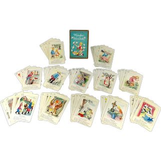 Ravensburger Childrens Playing Card Game fairy tales quartet complete 1960s