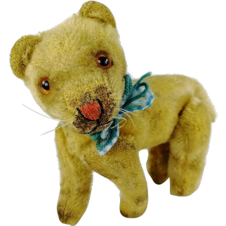 """Steiff Young Lion fully jointed smallest 4"""" produced 1951 to 1957 only"""