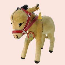 Steiff donkey all IDs vintage 1965 to 1967 smallest 5 inches edition