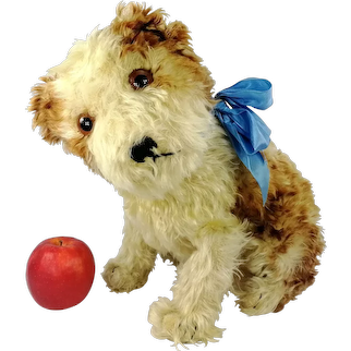 """Steiff Puppy Dog Molly 12"""" sitting 1925 to 1935 produced only in this large size"""