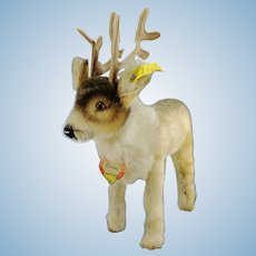 """Steiff reindeer, all IDs, vintage 1956 to 58 first edition, 7"""""""