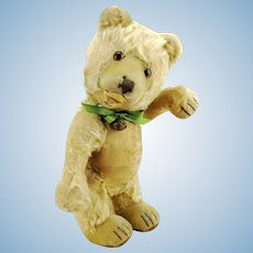Steiff teddy bear baby, well-loved 1930 to 1943 vintage made, 12""