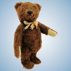 "Steiff Original Teddy Bear, US Zone tag, 10"" brown OTB, 1951 to 53 produced"