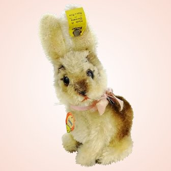 Steiff rabbit Sonny, all IDs, 4 inches, vintage 1964 made only