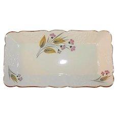 Empire England Platter Vintage Art Deco Thistle Design Signed Ceramic