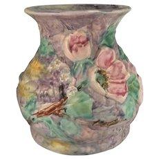 Vintage Weller Pottery Silvertone Vase