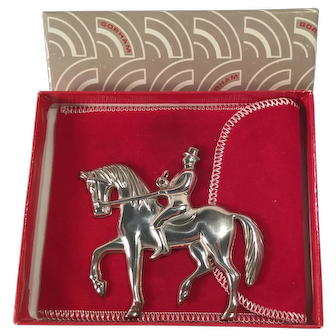 1979 Gorham Sterling Silver ornament Man on Horseback