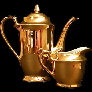 Gold Plated Tea Pot