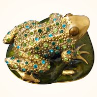 "E. Berebi ""Leaping Frog"" Trinket Box Limited Edition"