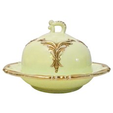 Vintage Heisey #1280 Winged Scroll Dome Butter Dish