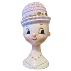 """Gorgeous and Very Rare """"Egghead"""" Lady Vase"""