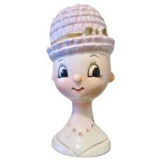 """Lady Head Vase Irice """"Egghead"""""""