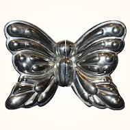 Vintage Set of Godinger Silverplate Butterfly Salt & Pepper Shakers