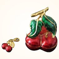 "E. Berebi ""The Cherries"" Trinket Box & Charm"