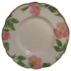 "Vintage Franciscan Desert Rose Bread and Butter Plates 6 3/8"" Set of 3"